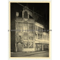 De Govde - Huyve / Bruxelles: De Witte Watch Shop At Night (Vintage Photo ~1930s/1940s)