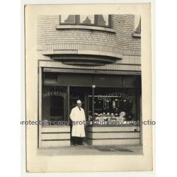 De Govde - Huyve / Bruxelles: De Witte Watch Shop At Night (Vintage Photo ~1930s/1940s)