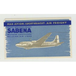 Sabena Belgian Air Lines - Air Freight (Vintage Luggage Label)
