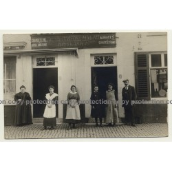 Charcuterie Boulangerie Servais Négociant Makah (Vintage RPPC 1915)