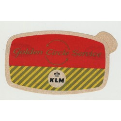 KLM Golden CIrcle Service (Vintage Self-Adhesive Airline Sticker)