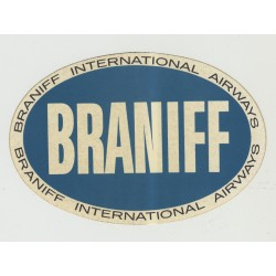 Braniff International Airways (Vintage Self Adhesive Luggage Sticker)