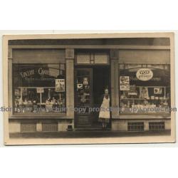 Bonneville / Belgium: Epicerie - Charcuterie / Vox Pilsener - Persil Henco (Vintage RPPC ~ 1910s/1920s)