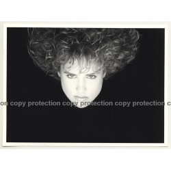 Close-Up Of Female Curlyhead *2 / Hair - Shampoo (Vintage Advertisement Photo 1980s)