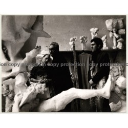 Alexander Gonda *11 / Sculptures - Students (Vintage Photo: Wolfgang Klein ~ 1960s)