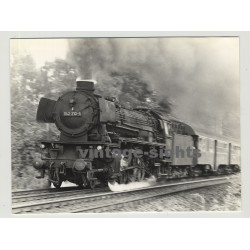 042 210-5 German Steam Train In Motion (Vintage Photo 1970s)