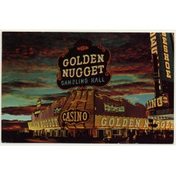 Las Vegas / USA: Golden Nugget Gambling Hall / Casino (Vintage Postcard 1971)