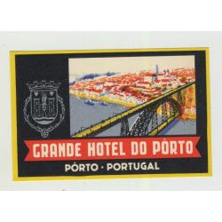 Grande Hotel Do Porto / Portugal (Vintage Luggage Label)
