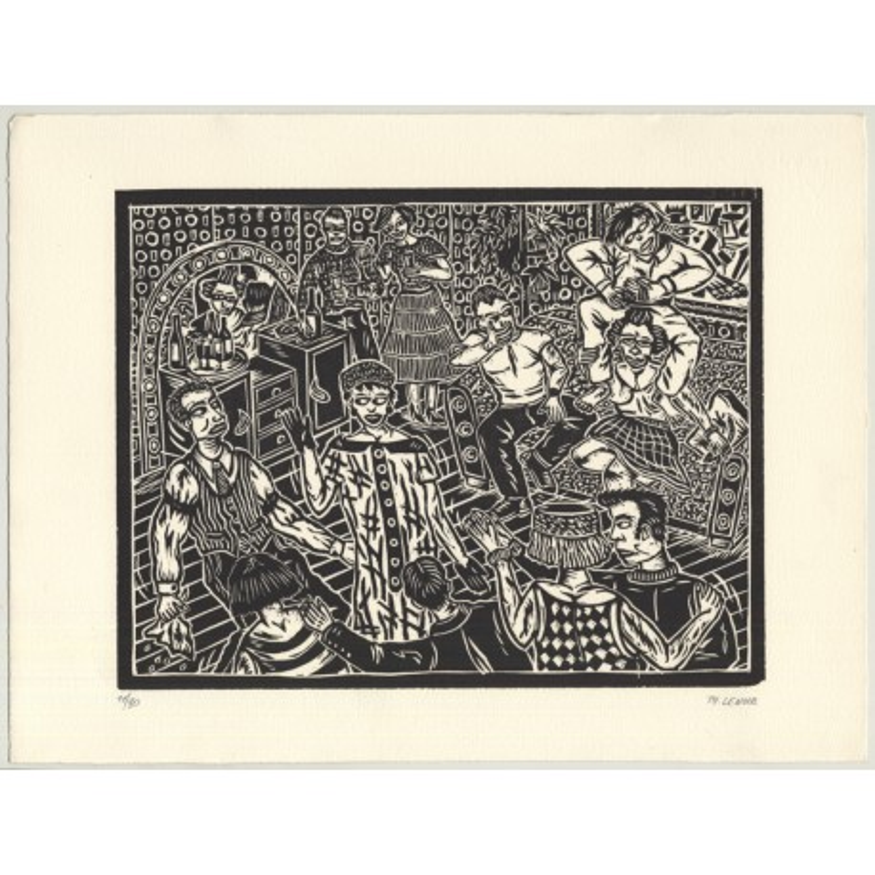 Thierry Lenoir: Portfolio With 5 Woodcuts Lim.Ed. 11/90 (Belgium 1991)