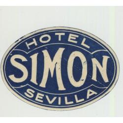 Hotel Simon - Sevilla / Spain (Vintage Luggage Label)