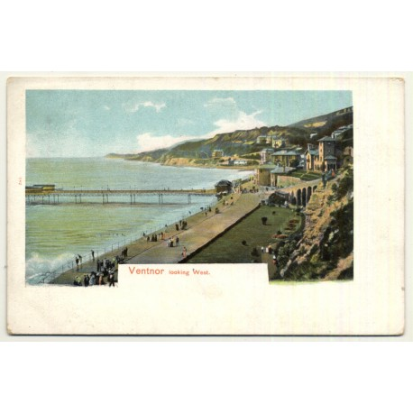 United Kingdom: Ventnor Looking West (Vintage Postcard ~1900s)