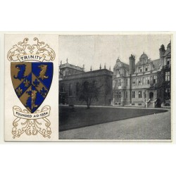 Oxford: Trinity College / Presidents House (Vintage Postcard ~1910s/1920s)