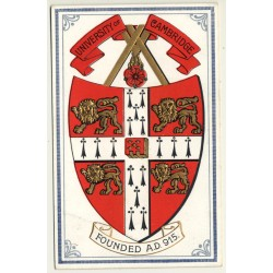 University Of Cambridge Founded A.D. 915 (Vintage Postcard ~1910s/1920s)