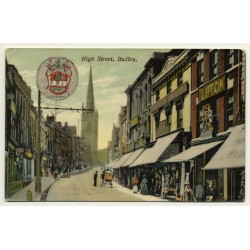 United Kingdom: High Street, Dudley (Vintage Postcard 1908)