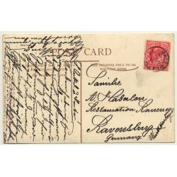 United Kingdom: High Street, Dudley (Vintage Postcard 1908)