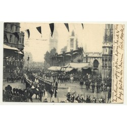 United Kingdom: Majesties Leaving Abbey After Coronation (Vintage Postcard 1902)