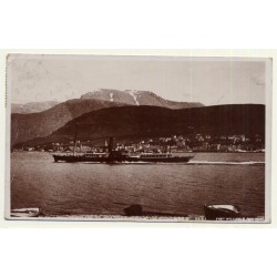 Scottland / UK: Port William & Ben Nevis - Shovel Paddle-Steamer (Vintage RPPC 1907)
