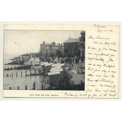 Sussex / UK: View From The Pier Bognor (Vintage Postcard 1904)