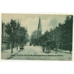 UK: Holy Trinity Church, Brondesbury Road, Kilburn (Vintage Postcard 1912)