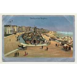 UK: The Aquarium, Brighton (Vintage Postcard 1906)