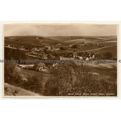 UK: East Dean From Went Hill, Sussex (Vintage RPPC)
