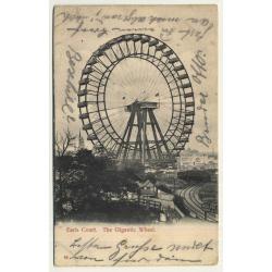 UK: Earls Court - The Gigantic Wheel (Vintage Postcard 1903)