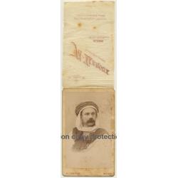 A. Leroux, Alger: Portrait Of Tourist W. Turban (Vintage Cabinet Card Photo ~1900)