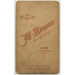 A. Leroux, Alger: Portrait Of Tourist W. Turban *2 (Vintage Cabinet Card Photo Pre 1900)