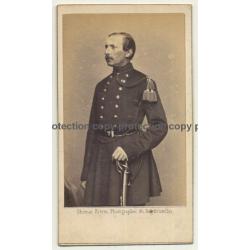 Ghémar Frères / Bruxelles: Officer In Uniform (Vintage Carte De Visite / CdV Pre 1900)