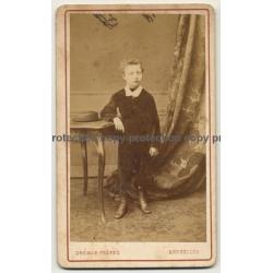 Ghémar Frères / Bruxelles: Young Boy In Salon (Vintage Carte De Visite / CDV ~1870)