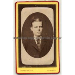 J. Vanhoeter: Good Looking Young Man (Vintage Carte De Visite / CDV ~1880s)