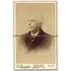 G. Borghese / Roma: Portrait Of Fine Older Man (Vintage Carte De Visite / CDV ~1870s/1880s)