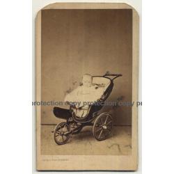 Gaillard / Bruxelles: Baby In Stroller (Vintage Carte De Visite / CDV ~1860s)