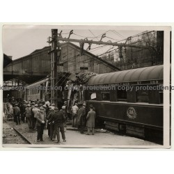 Etampes: L'Accident De Chemin Du Fer / Train Crash (Vintage Photo Meurisse ~1930s)