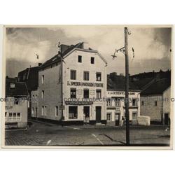 Pepinster - Rue Pepin: L. Speder-Pirosson Peintre / Café Saison (Vintage Photo ~1930s)