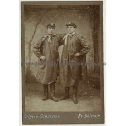 Ulysse Gandibleu: Fishmongers - Poissoniers - Profession (Vintage Cabinet Card ~1890s/1900s)