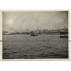 Antwerpen / Anvers: Le Port Et L'Escaut (Vintage Photo ~1930s/1940s)