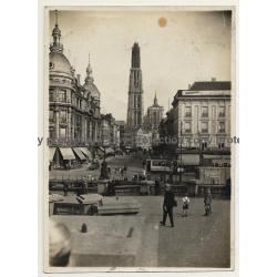Anvers / Antwerpen: Canal Au Sucre (Vintage Photo ~1930s/1940s)