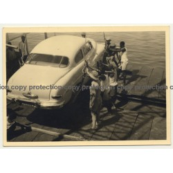 Cong Belge: Car Is Being Loaded On Ship *1 / Oldtimer (Vintage Photo ~1950s)