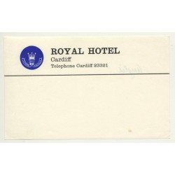 Royal Hotel - Cardiff / Great Britain (Vintage Luggage Label)