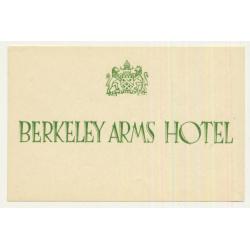 Berkeley Arms Hotel - Berkeley / Great Britain (Vintage Luggage Label)