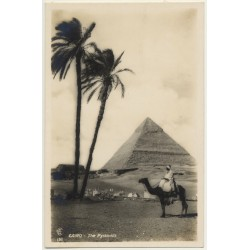 Lehnert & Landrock: Cairo - The Cheops Pyramid / Egypt (Vintage RPPC 1934)