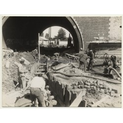 Netherlands: Goup Of Workers - Dike/Canal Construction  (Vintage Photo ~1920s)