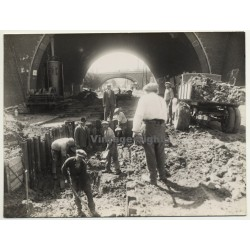 Netherlands: Workers - Sewer Construction - Canal *2 (Vintage Photo ~1920s)