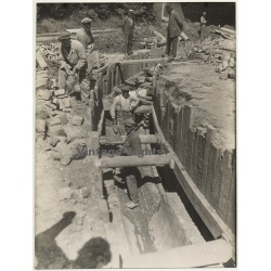 Netherlands: Workers - Sewer Construction - Canal *4 (Vintage Photo ~1920s)