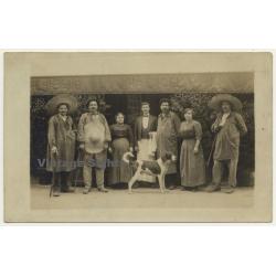 Demory & L. Jouvencel Vins Restaurant / Biaude - Oversea? (Vintage RPPC ~1910)
