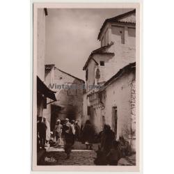 Constantine / Algeria: Un Rue Arabe (Vintage RPPC ~1930s)