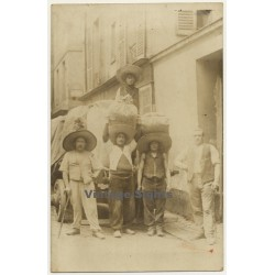 South America: Group Of Cotton Farmer (Vintage RPPC 1905)