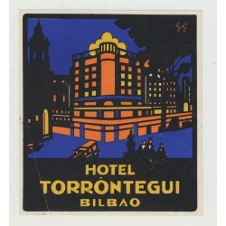 Hotel Torrontegui - Bilbao / Spain (Vintage Luggage Label)