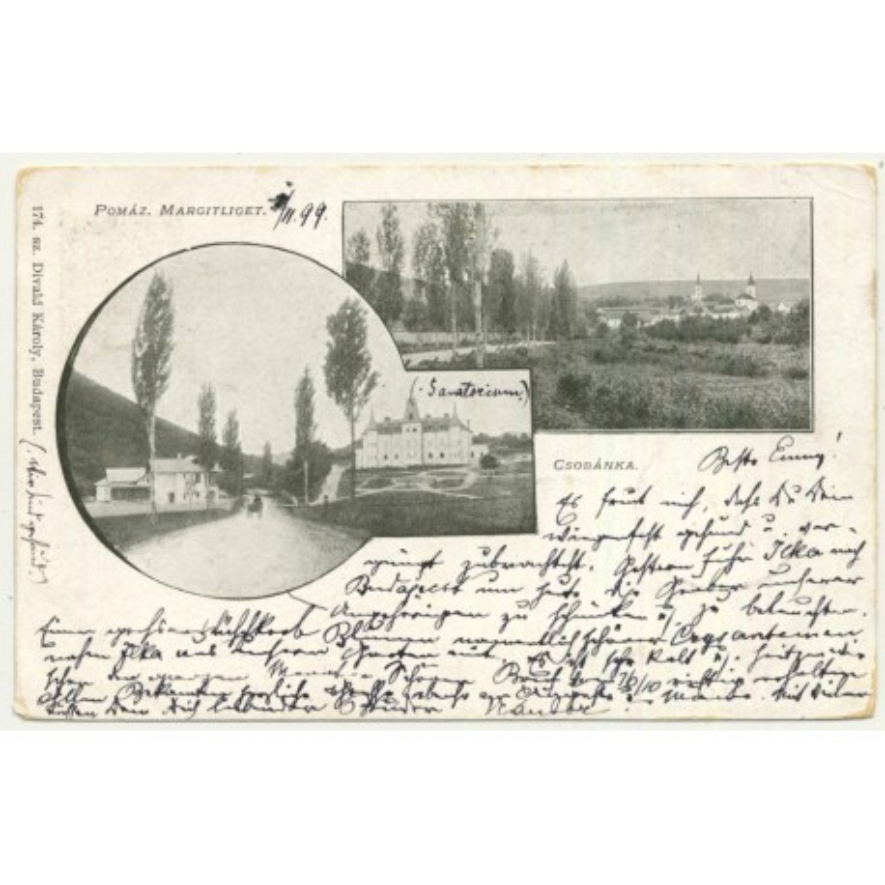 Csobánka / Hungary: Pomáz Margitliget (Vintage Postcard 1899)